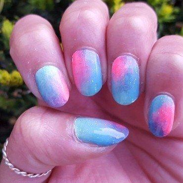 Unicorn Blend nail art by Alisha Worth