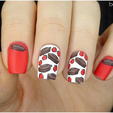 Sweet apple pie nail art by barbrafeszyn