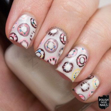 Sweets donut pattern nail art 4 thumb370f
