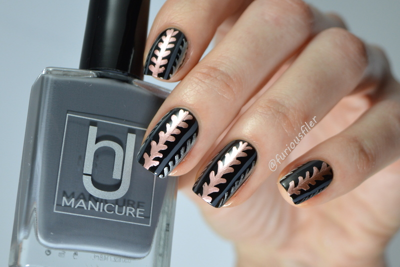 Mixed Metallics nail art by Furious Filer