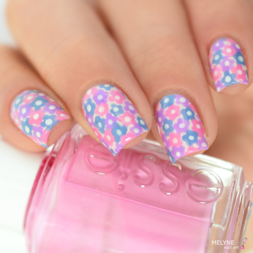 Spring nail design nail art by melyne nailart