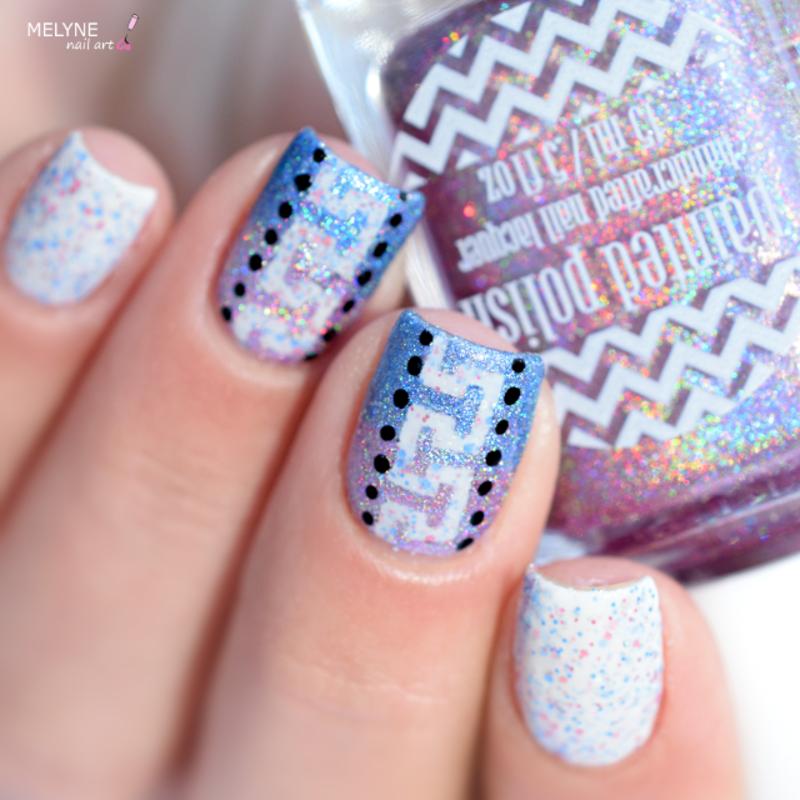 geometric gradient nails nail art by melyne nailart