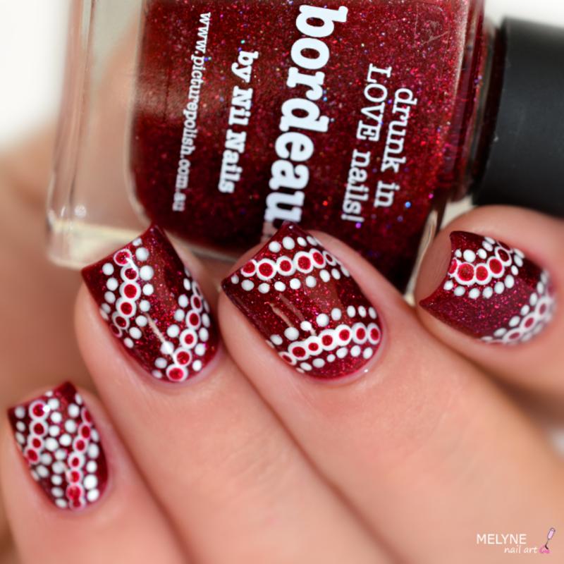 nail art with dotting tool nail art by melyne nailart