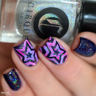Star Cyclone nail art by melyne nailart