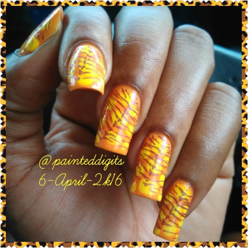Blobbicure with Stamping nail art by Painted Digits