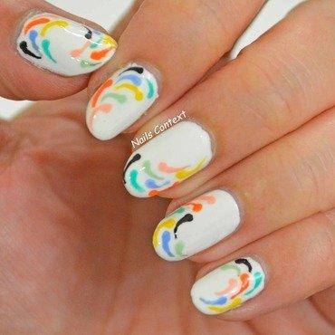 Tory Burch Inspired Nails  nail art by NailsContext
