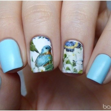 Welcome spring! nail art by barbrafeszyn