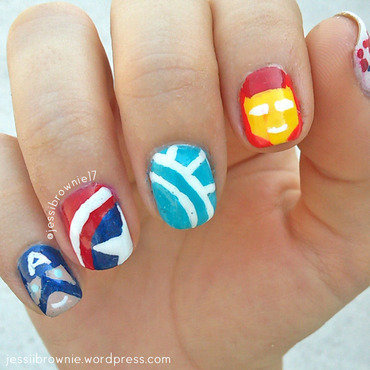 Marvel: Civil War nail art nail art by Jessi Brownie (Jessi)