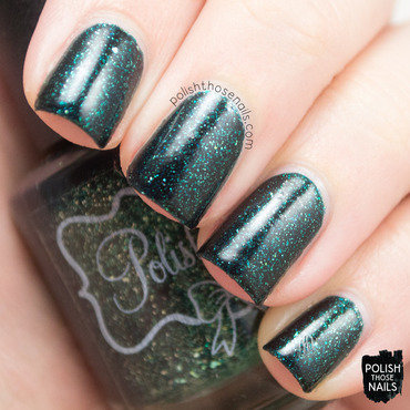 Polish m seasons are changing green flakie jelly swatch 3 thumb370f