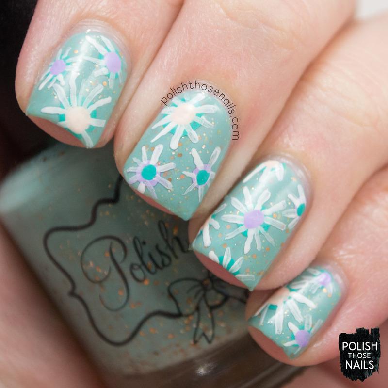 Lady Florals nail art by Marisa  Cavanaugh