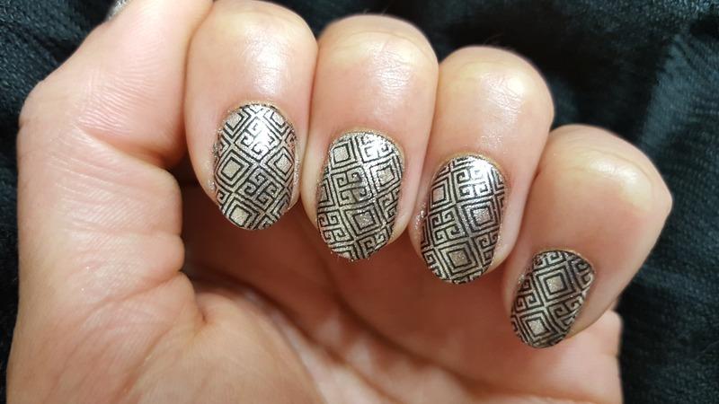 Gilded Age nail art by Alisha Worth