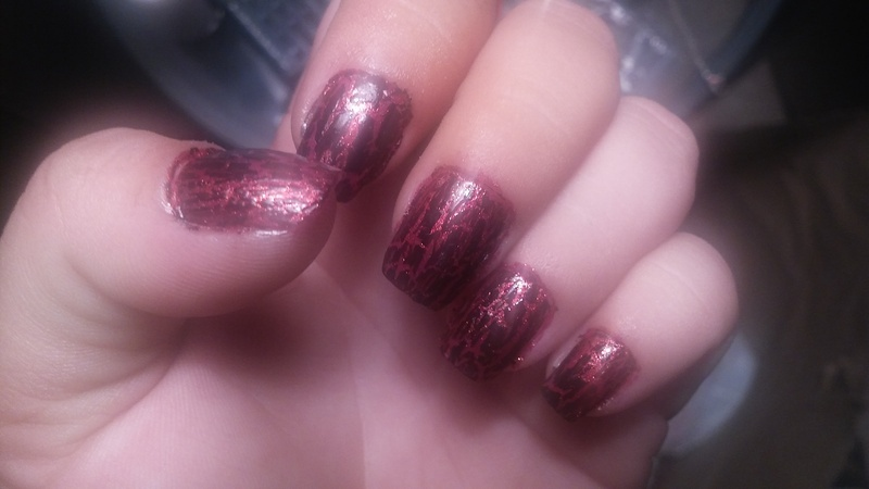 All cracked out nail art by Teana Jones