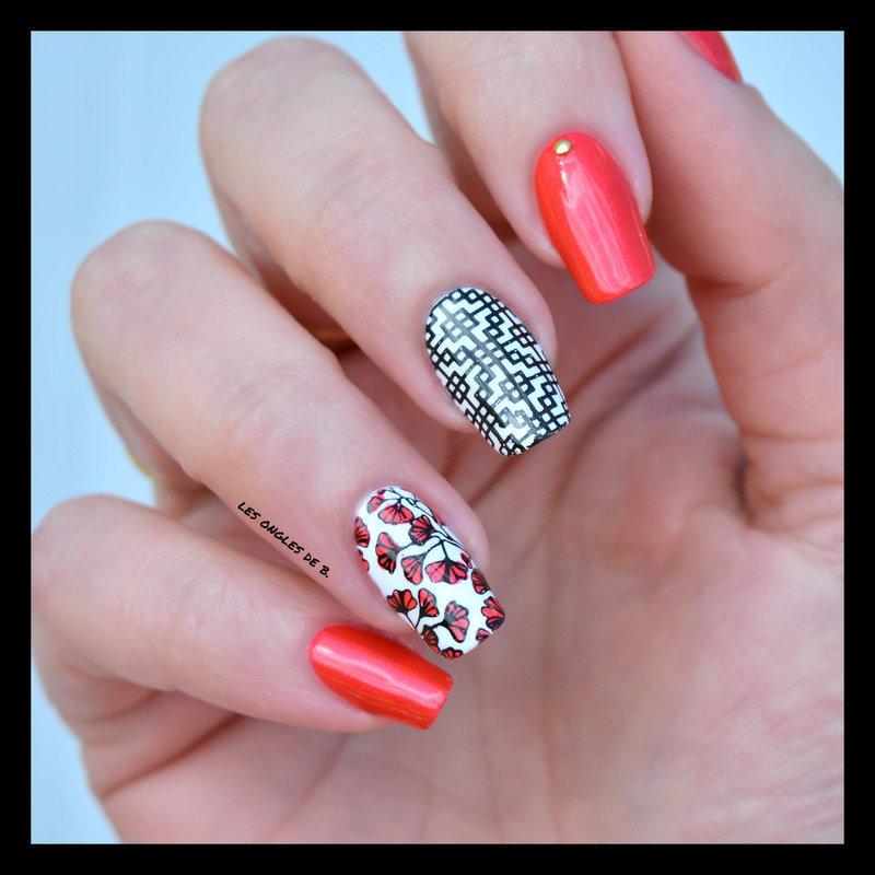 Zen nail art by Les ongles de B.