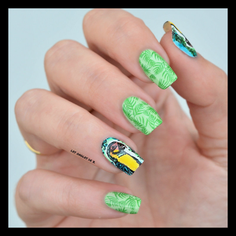 Jungle nail art by Les ongles de B.