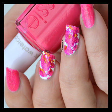 Twin Stamping Orchidées nail art by Les ongles de B.