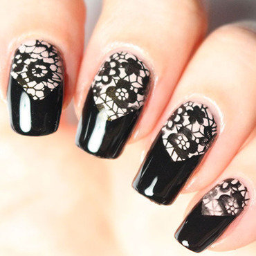 Lace nail art nail art by Tribulons