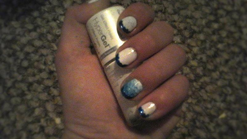 funky french tip nail art by myla murray