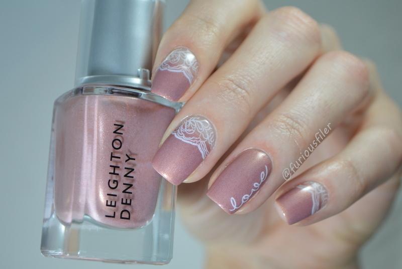 Bridal Manicure  nail art by Furious Filer