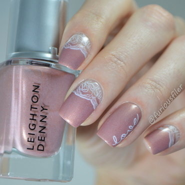 Bridal Manicure  nail art by Furious Filer