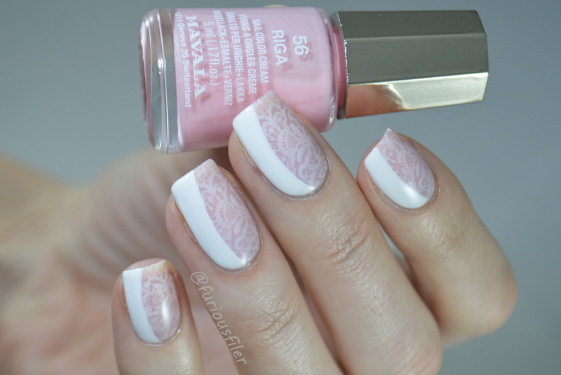 Bridal Side French Manicure  nail art by Furious Filer