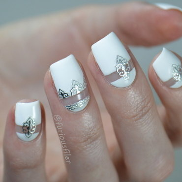 Bridal Metallic Nails nail art by Furious Filer