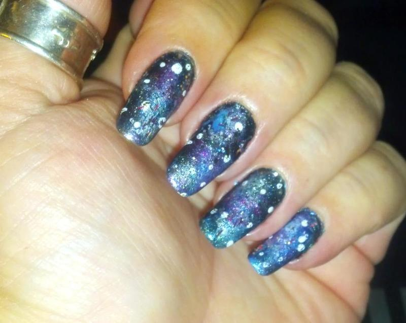 Galaxy Nails 1 nail art by Maureen Spaulding