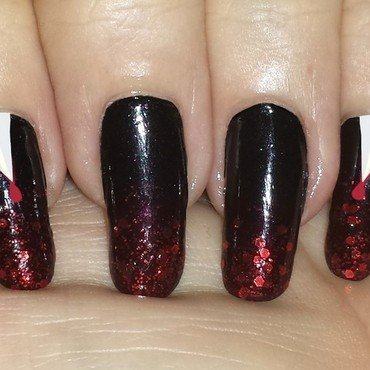 Halloween fangs nail art by Maureen Spaulding