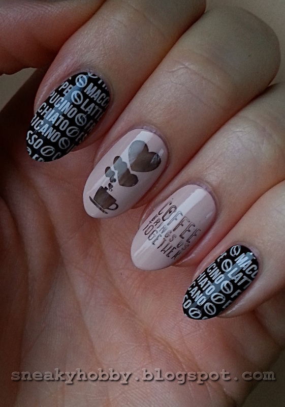 Coffee Addict Manicure - Part 1  nail art by Mgielka M