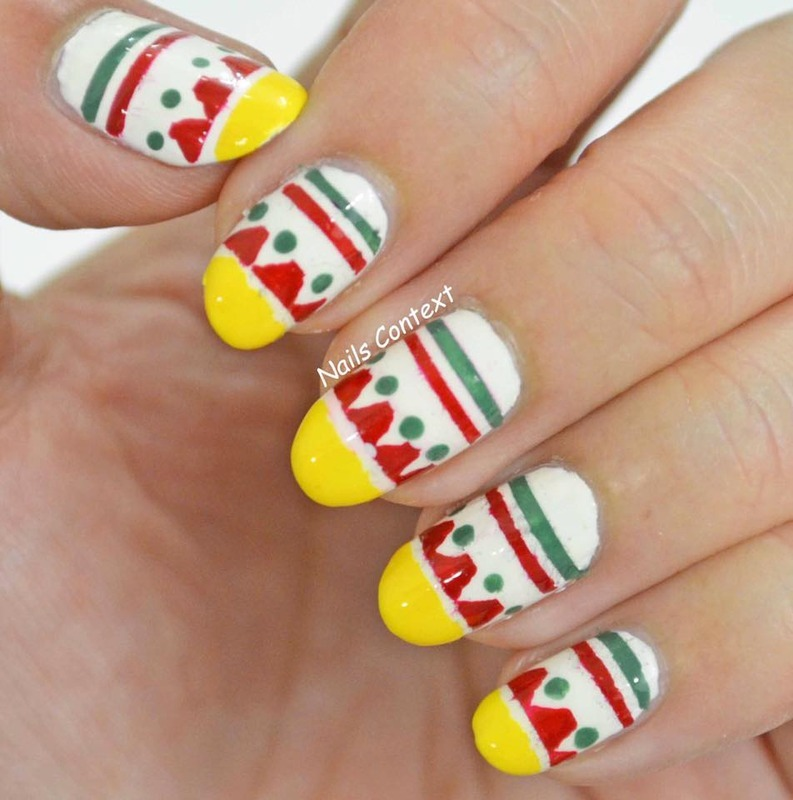 Cinco De Mayo nail art by NailsContext