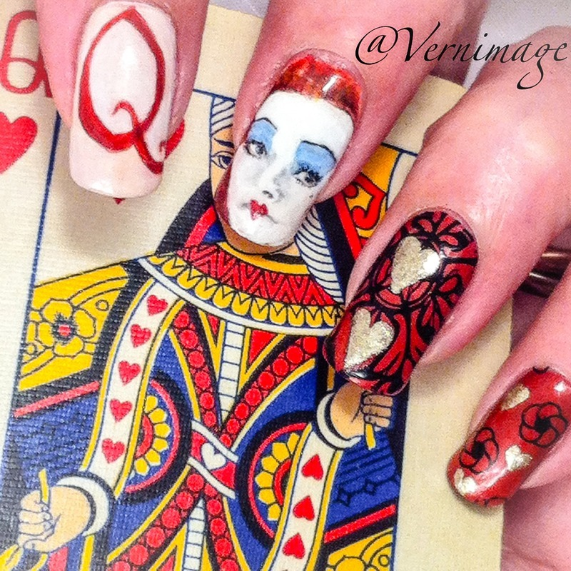 Alice Through the Looking Glass theme! nail art by Vernimage