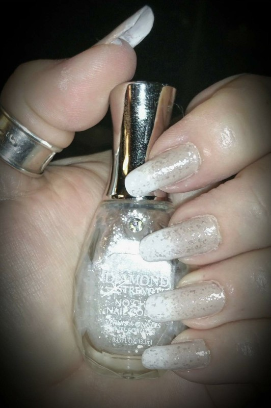 Soft diamonds nail art by Maureen Spaulding