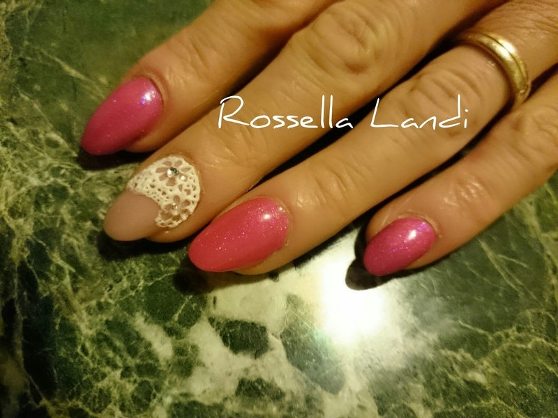 Merletto 3d nail art by Rossella Landi