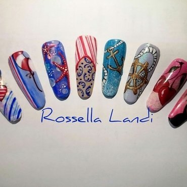 Summer nails nail art by Rossella Landi