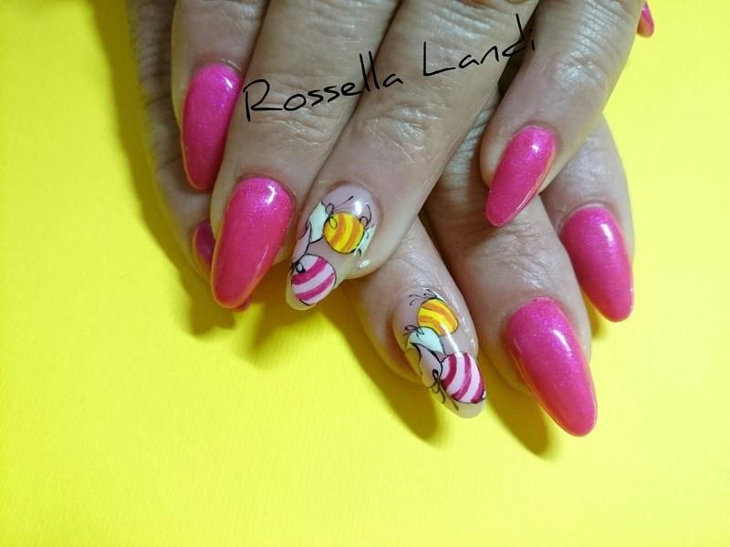Sweet!  nail art by Rossella Landi
