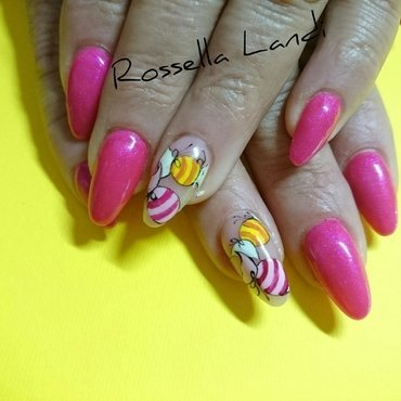 Sweet!  nail art by Rossella Landi