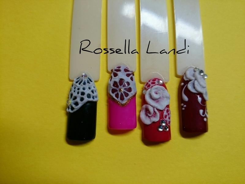 Plastilina 3d nail art by Rossella Landi
