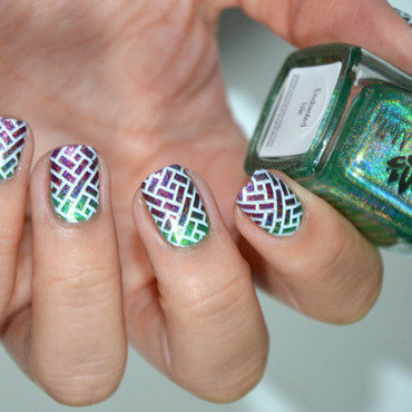 Mur de briques nail art by Sweapee