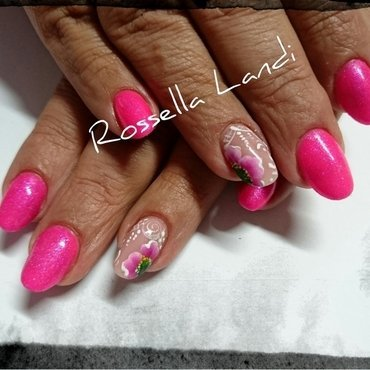 One-stroke nail art by Rossella Landi