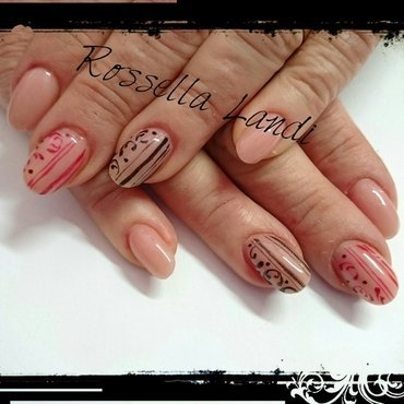 Natural nails nail art by Rossella Landi