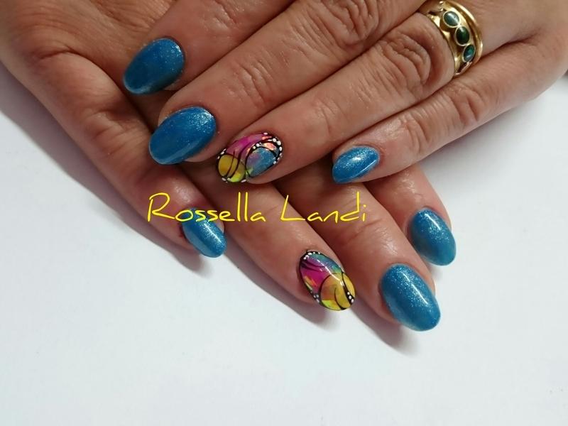 Glass Foil ♡ nail art by Rossella Landi