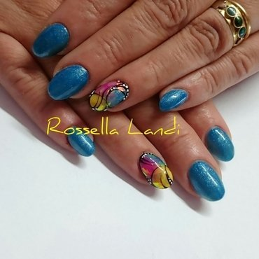 Glass Foil ♡ nail art by Rossella Landi