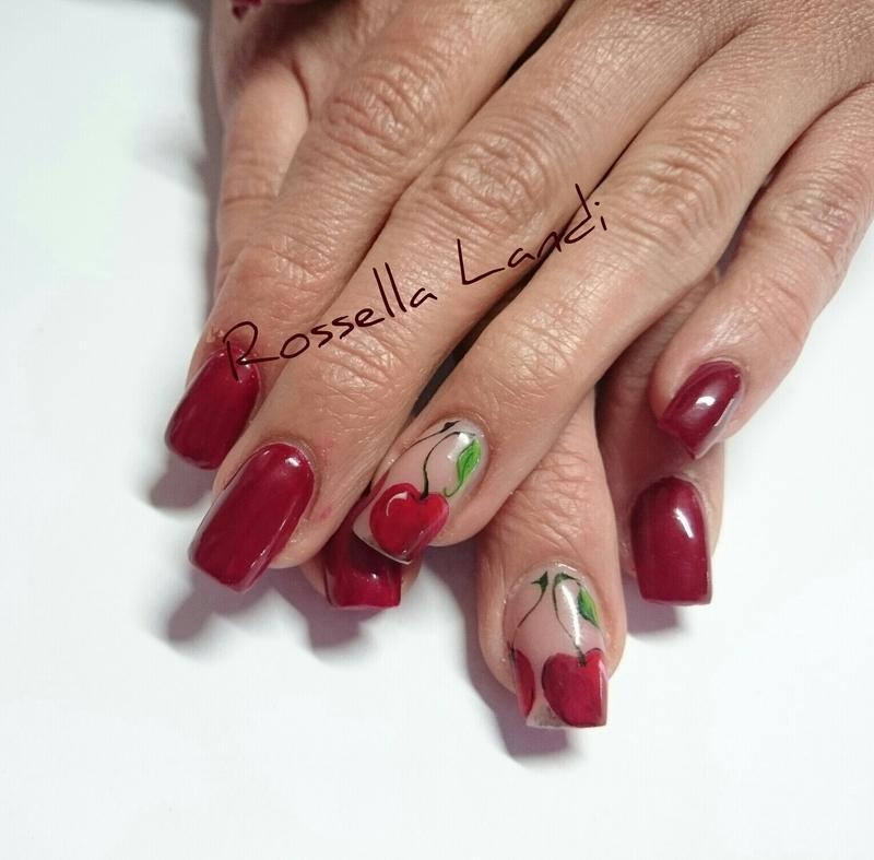 Cherry nail art by Rossella Landi