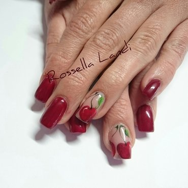 Cherry nail art by Rossella Landi