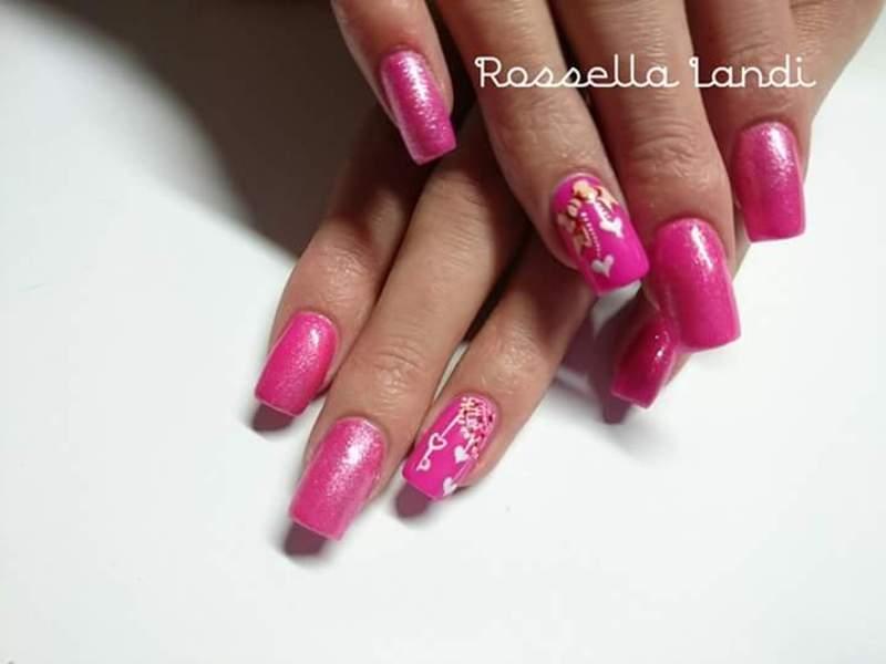 Lover  nail art by Rossella Landi