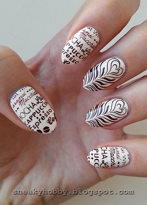 Coffee Addict Manicure - Part 2 nail art by Mgielka M