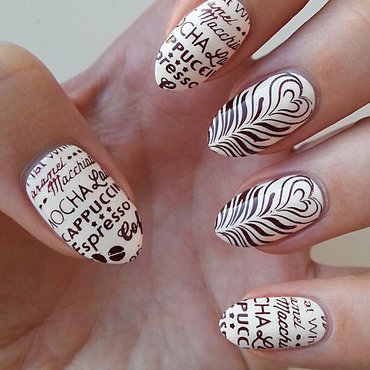 Coffee Addict Manicure - Part 2 nail art by Mgielka M