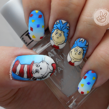 Freehand Cat In The Hat nail art by Ithfifi Williams