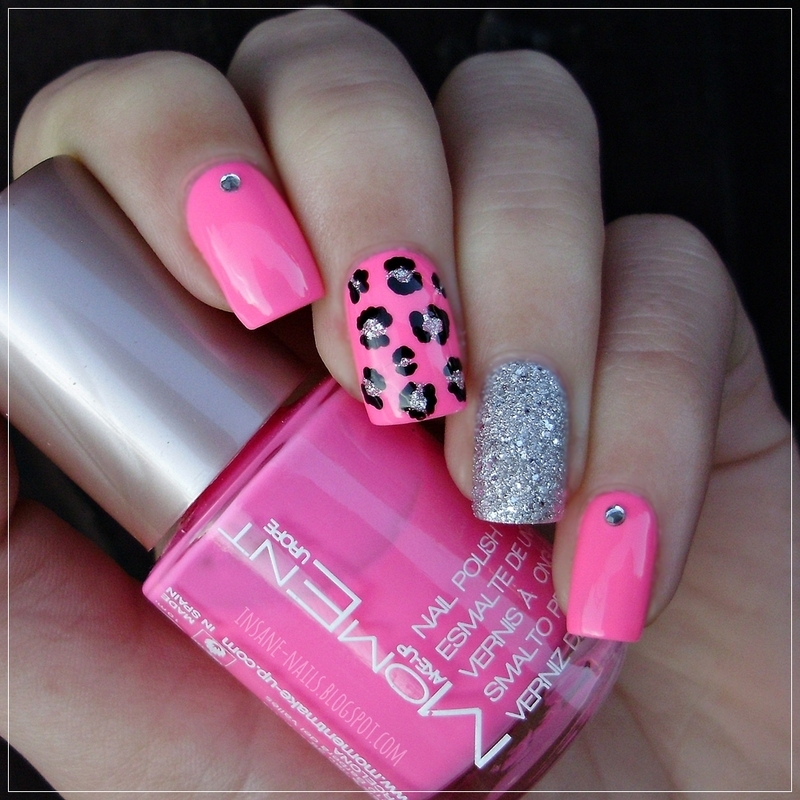 Pink leopard manicure nail art by sanela nailpolis museum of pink leopard manicure nail art by sanela prinsesfo Choice Image