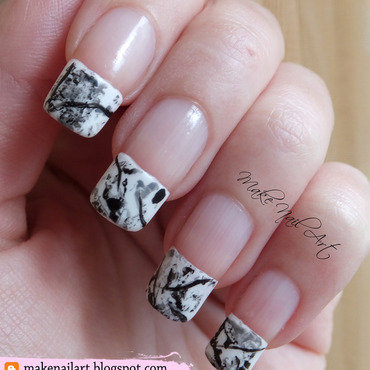 White 20stone 20marble 20french 20manicure 20nail 20art 20design 20tutorial thumb370f