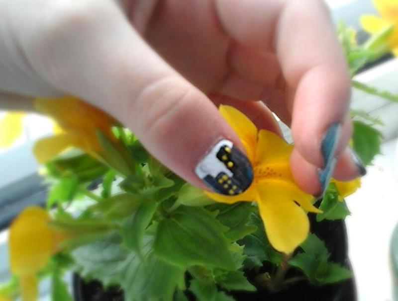 cityscape  nail art by myla murray